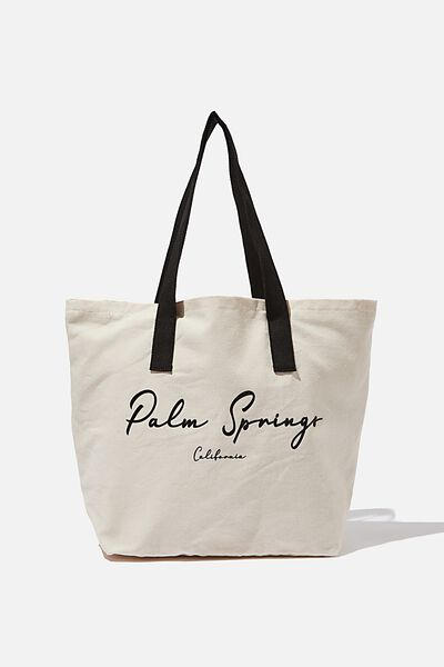 Canvas Tote Bag, PALM SPRINGS CALI
