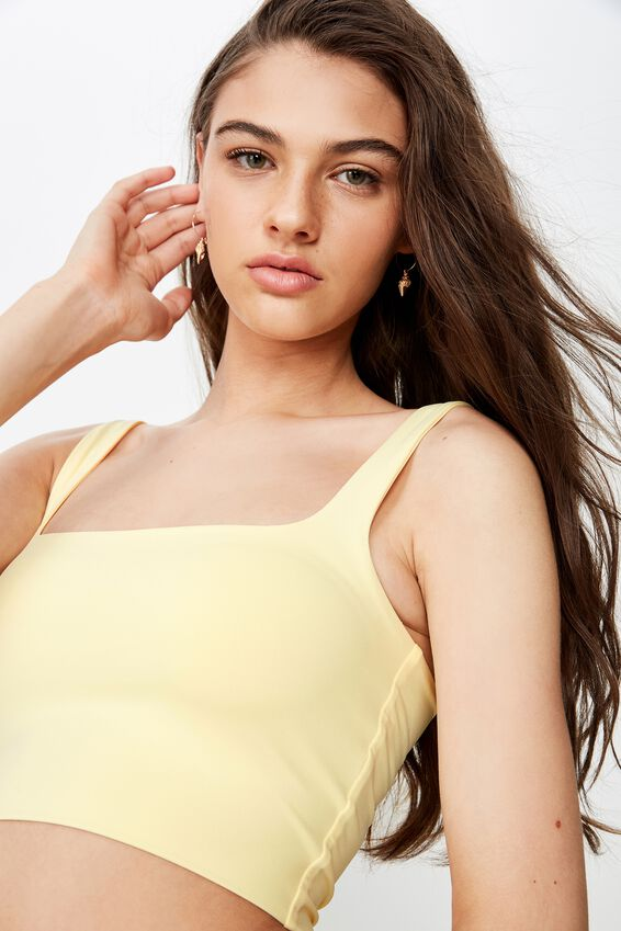 Party Round Neck Top, LIMONCELLO