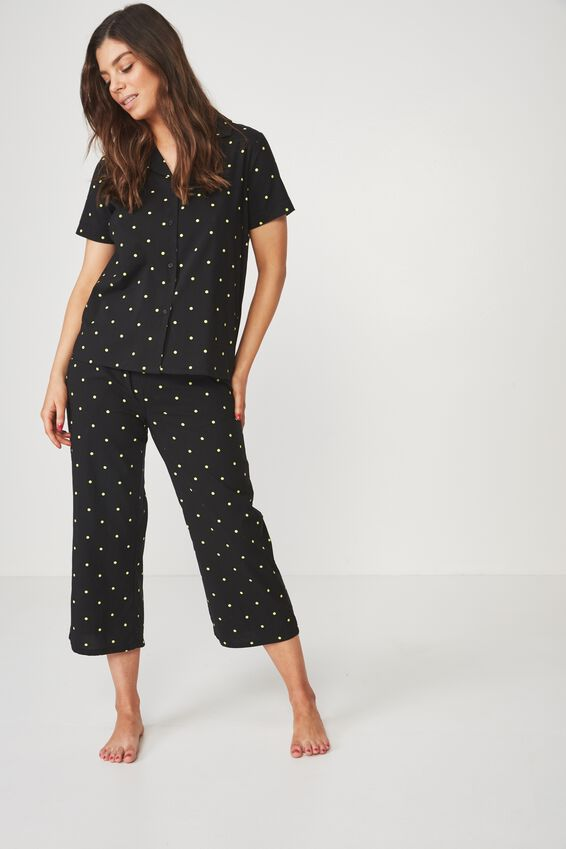 Cotton Sleep Shirt, GALAXY POLKA