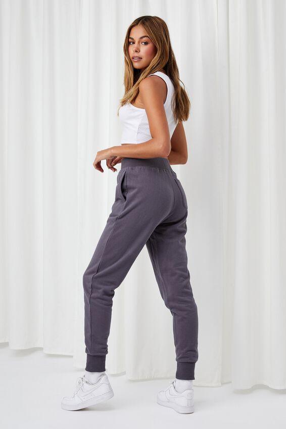 Erica Slim Fit Track Pant, JET GREY
