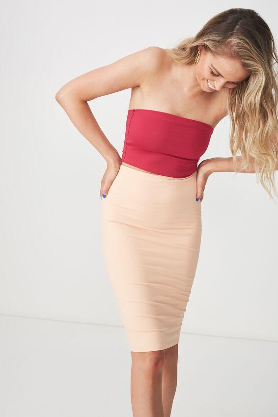 Party Midi Bodycon Skirt, CHAMPAGNE PEACH