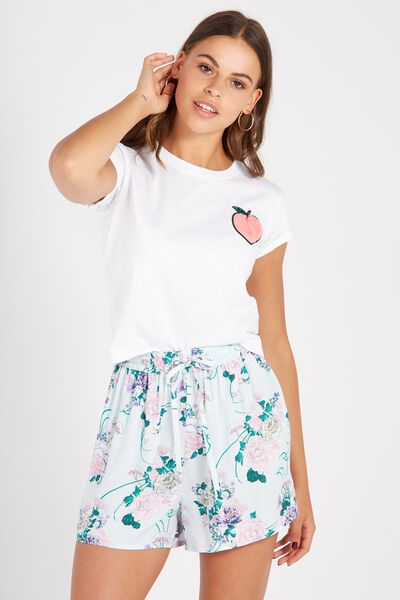 High Waisted Relaxed Short, ORIENTAL FLORAL