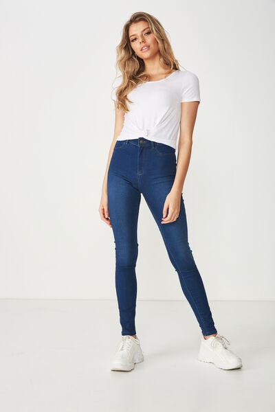 Long Super Skinny Jean, MOON BLUE