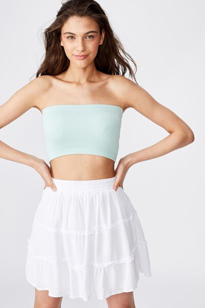 Tully Tiered Skirt, WHITE