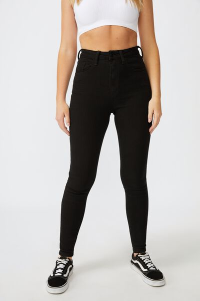 The Skinny Premium Jean Long, BLACK