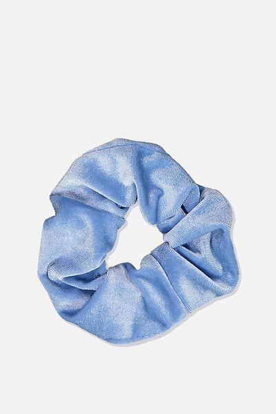 Scrunchie, PLUSH COOL BLUE
