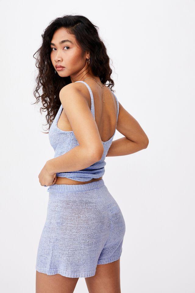 Lindsey Knit Short, BLUE PETAL