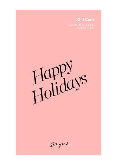 eGift Card, Supre Happy Holidays