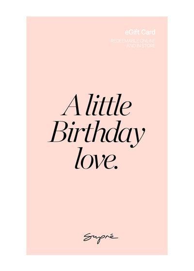 eGift Card, Supre AU Birthday