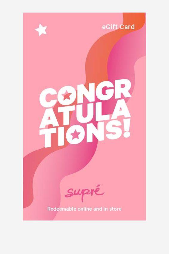 eGift Card, Supre AU Congratulations