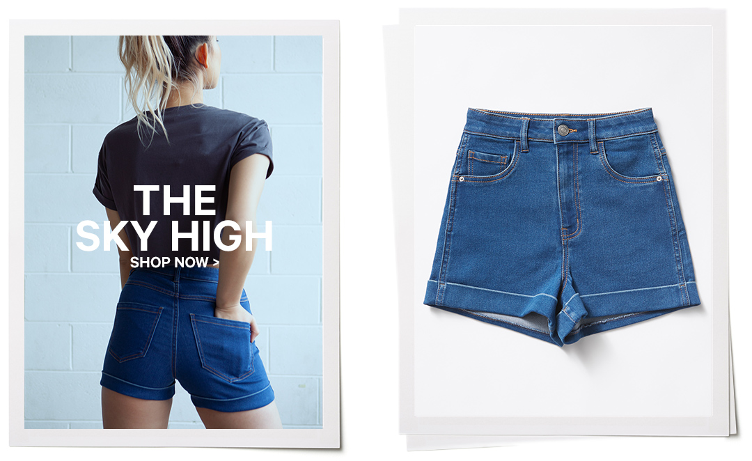 Shop The Sky High Denim Short