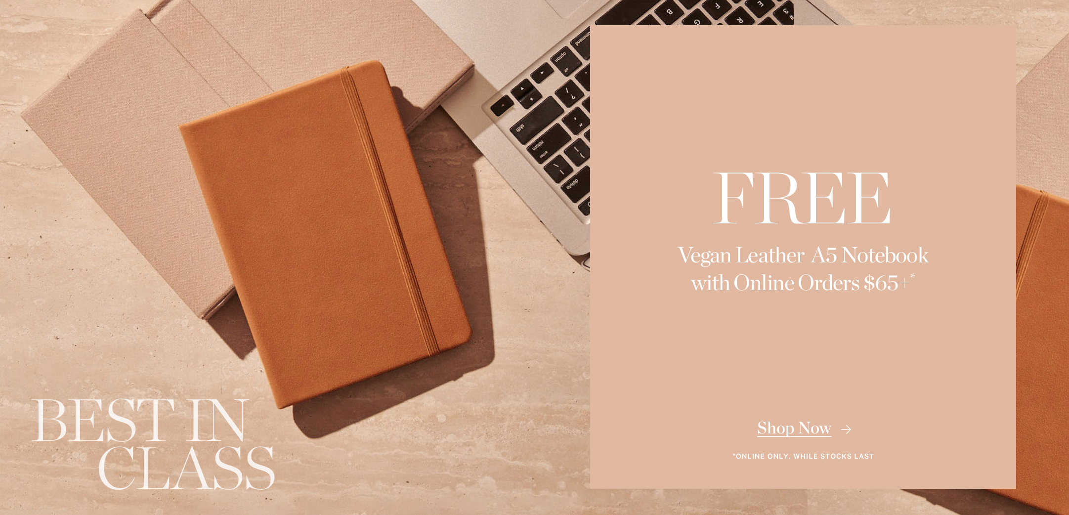 Free A5 Vegan Leather Notebook With Orders $65+*